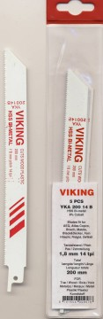 VIKING BAJONETTSAGBLAD 200mm 14TPI 5PK.