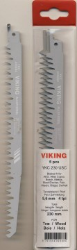 VIKING BAJONETTSAGBLAD 230mm 4TPI 5PK.